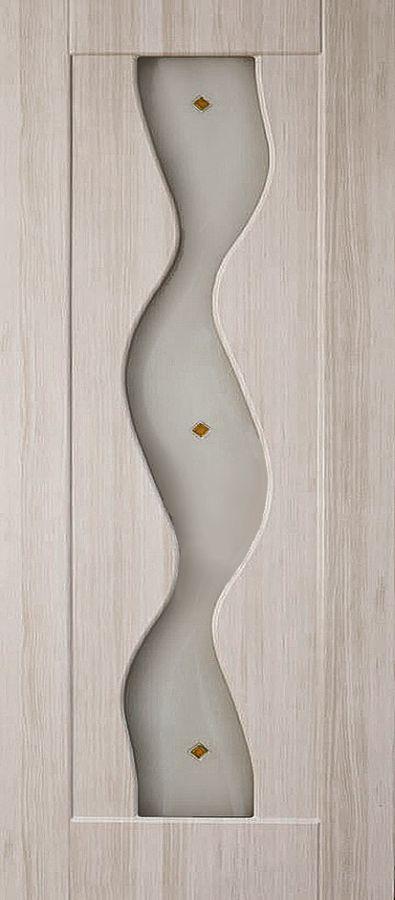 Вираж Беленый дуб стекло художественное Вираж