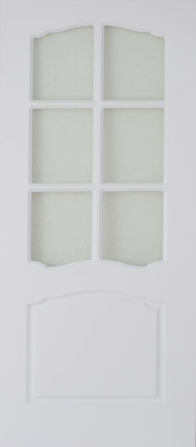 Лилия Белый стекло рифленое Крезет