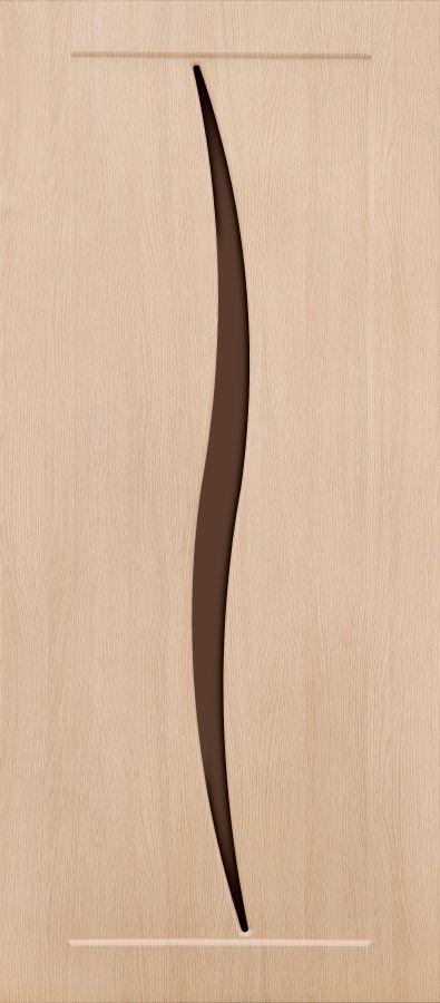 Силуэт Дуб молочный стекло матовое бронзовое